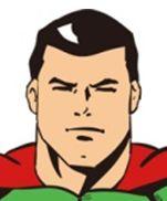 スーパーマン右